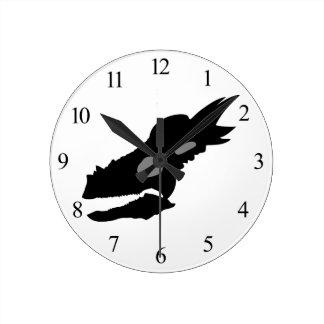 Horloge Ronde Crâne de Stygimoloch