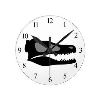 Horloge Ronde Crâne de Velociraptor