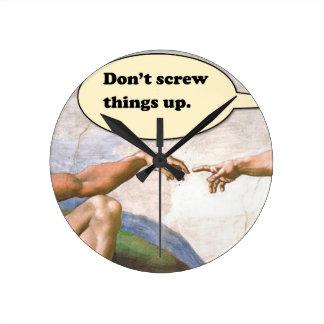 Horloge Ronde Création d'Adam