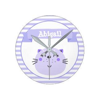 Horloge Ronde Crèche ou enfants personnalisés par | pourpres
