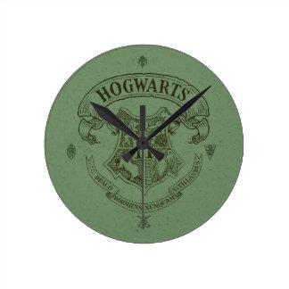 Horloge Ronde Crête de bannière de Harry Potter   Hogwarts