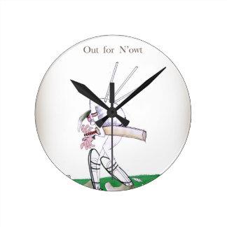 Horloge Ronde Cricket de Yorkshire 'pour le n'owt