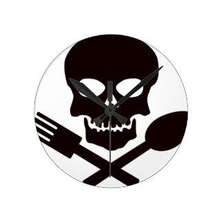 Horloge Ronde Cuisinier de pirate