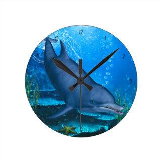 Horloge Ronde Dauphin de Bottlenose sous-marin
