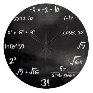 Horloge ronde de jeu-concours de maths (coutume)