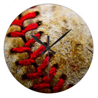Horloge ronde de point de base-ball