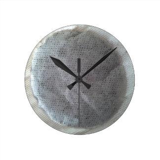 Horloge ronde de sachet à thé
