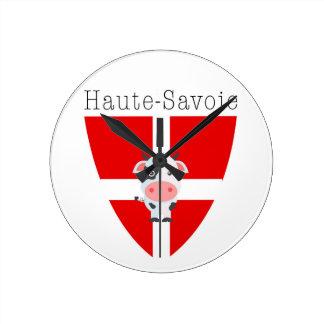 Horloge ronde de vache à la Haute-Savoie