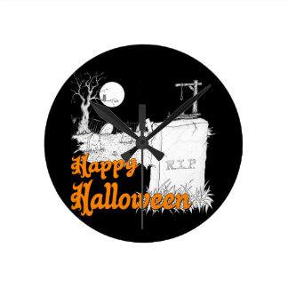 Horloge Ronde DÉCHIRURE de Halloween
