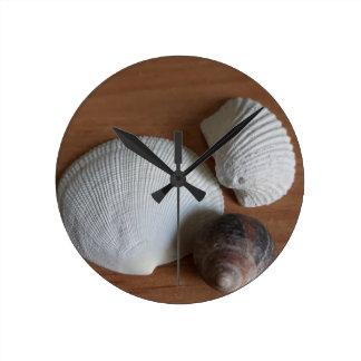 Horloge Ronde Décor rustique côtier en bois de regard de