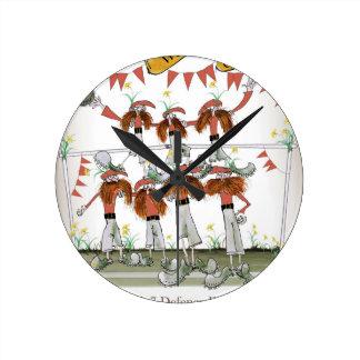 Horloge Ronde défenseurs du football de gallois