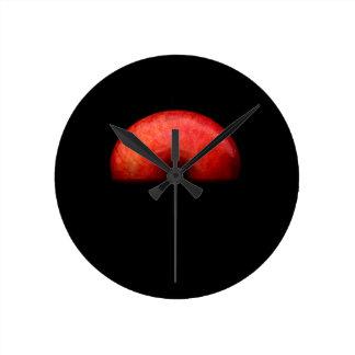 Horloge Ronde Demi de photographie de portrait d'Apple
