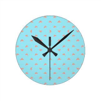 Horloge Ronde Dessin de motif de bande dessinée de vaisseau