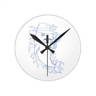 Horloge Ronde Dessin révélateur d'épaulard d'orque