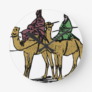 Horloge Ronde Deux types de chameau
