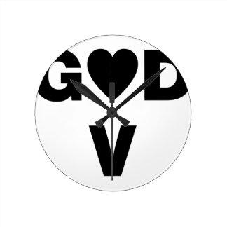Horloge Ronde Dieu d'amour