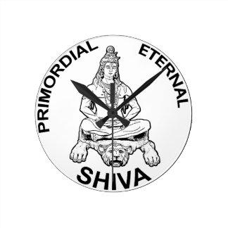 Horloge Ronde Dieu éternel de seigneur Shiva et indien