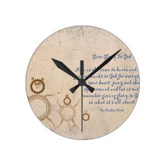 Horloge Ronde Donnez la gloire à Dieu