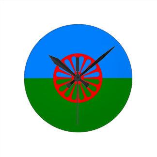 Horloge Ronde Drapeau gitan