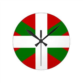 Horloge Ronde Drapeau pays Basque euskadi