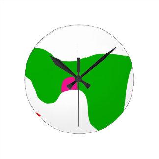Horloge Ronde Du matin labourez la nuit