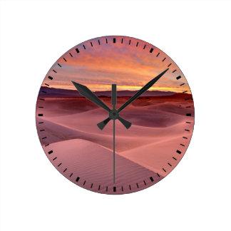 Horloge Ronde Dunes de sable roses, Death Valley, CA