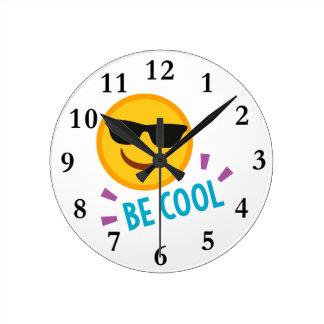 Horloge Ronde Emoji soit frais