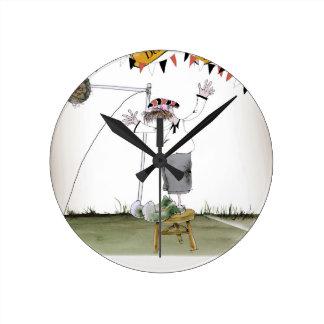 Horloge Ronde en avant de centre allemand vintage