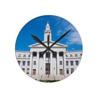 Horloge Ronde Entrée de bâtiment de ville et de comté de Denver