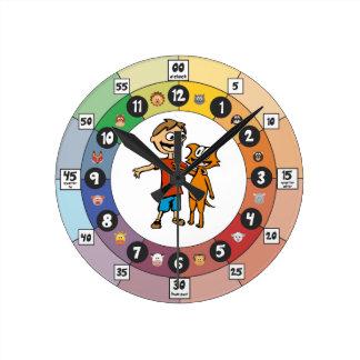Horloge Ronde Étude de l'horloge pour les enfants en bas âge :