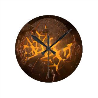 Horloge Ronde Explosion de planète