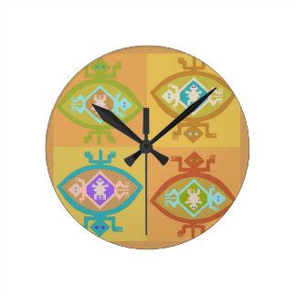 Horloge Ronde Famille de Tortuga de sud-ouest