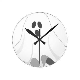 Horloge Ronde Fantôme de Halloween - HUEZ !