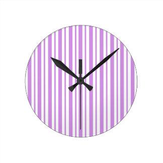 Horloge Ronde Filet horizontal de lavande