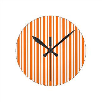 Horloge Ronde Filet vertical orange