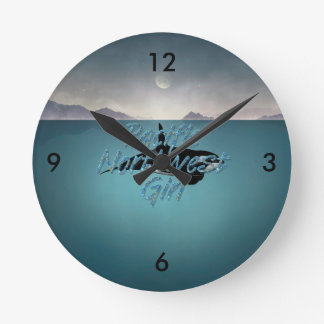Horloge Ronde Fille du nord-ouest Pacifique de PIÈCE EN T