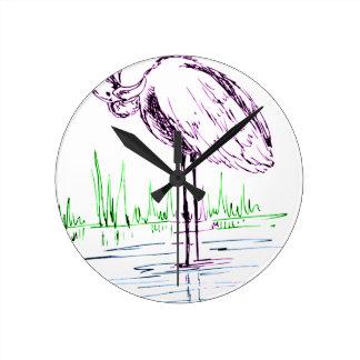 Horloge Ronde flamant #16