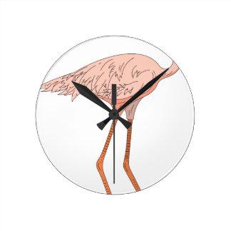 Horloge Ronde Flamant #5