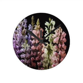 Horloge Ronde Fleurs