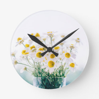 Horloge Ronde Floral, art, conception, beau, nouvelle, mode,