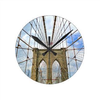Horloge Ronde Fondation de ville de New York Brooklyn de pont