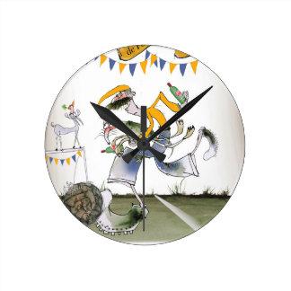 Horloge Ronde footballer vintage de gauche du Brésil