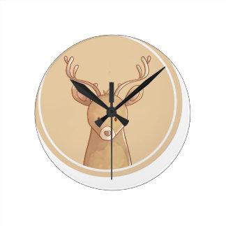 Horloge Ronde forêts portrait deer