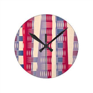Horloge Ronde Formes géométriques de couleur multi