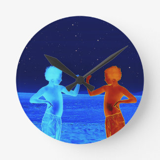 Horloge Ronde Garçons de l'espace