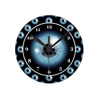 Horloge Ronde Globe oculaire bleu