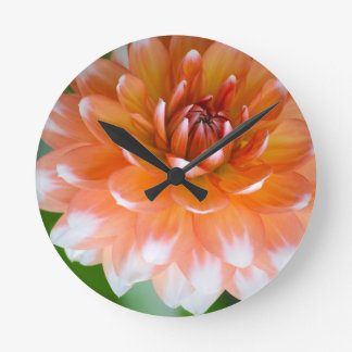 Horloge Ronde Gloire orange et blanche
