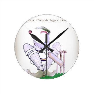 Horloge Ronde Gueules de cricket de Yorkshire d'amour plus