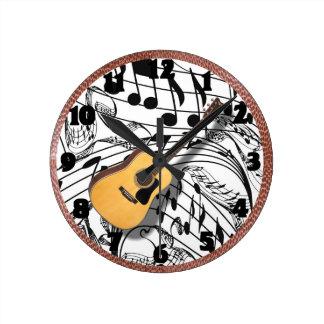 HORLOGE RONDE GUITAR-CLOCK