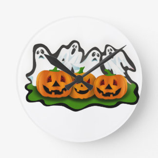 Horloge Ronde Halloween